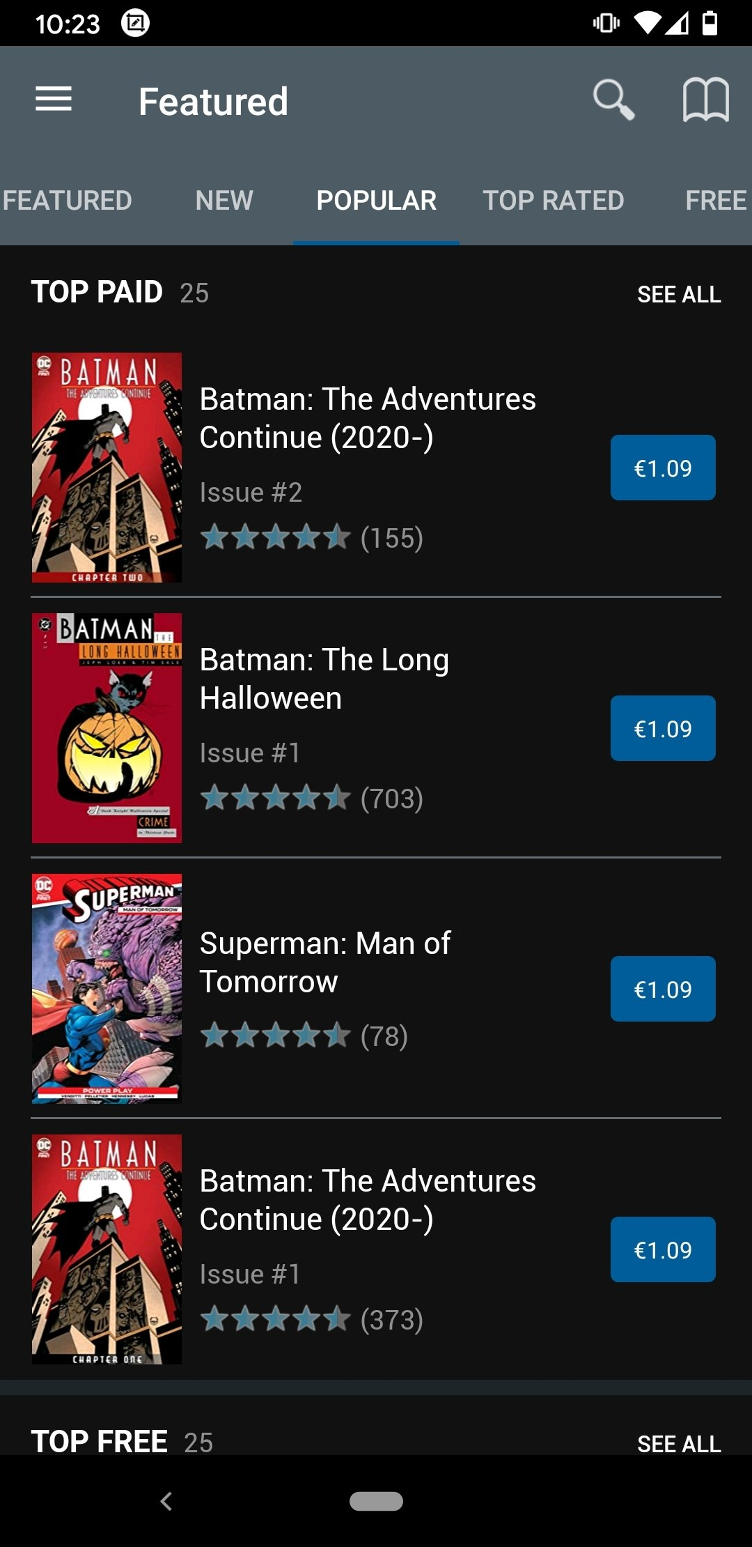 fumetti in inglese da scaricare google