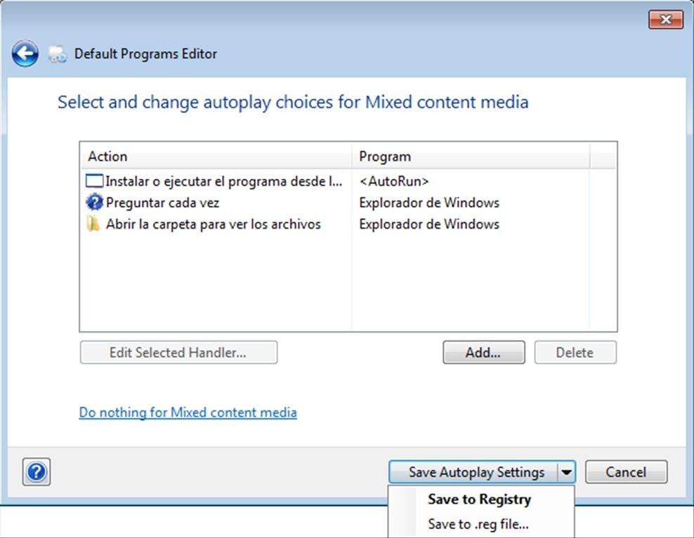 Default Programs Editor