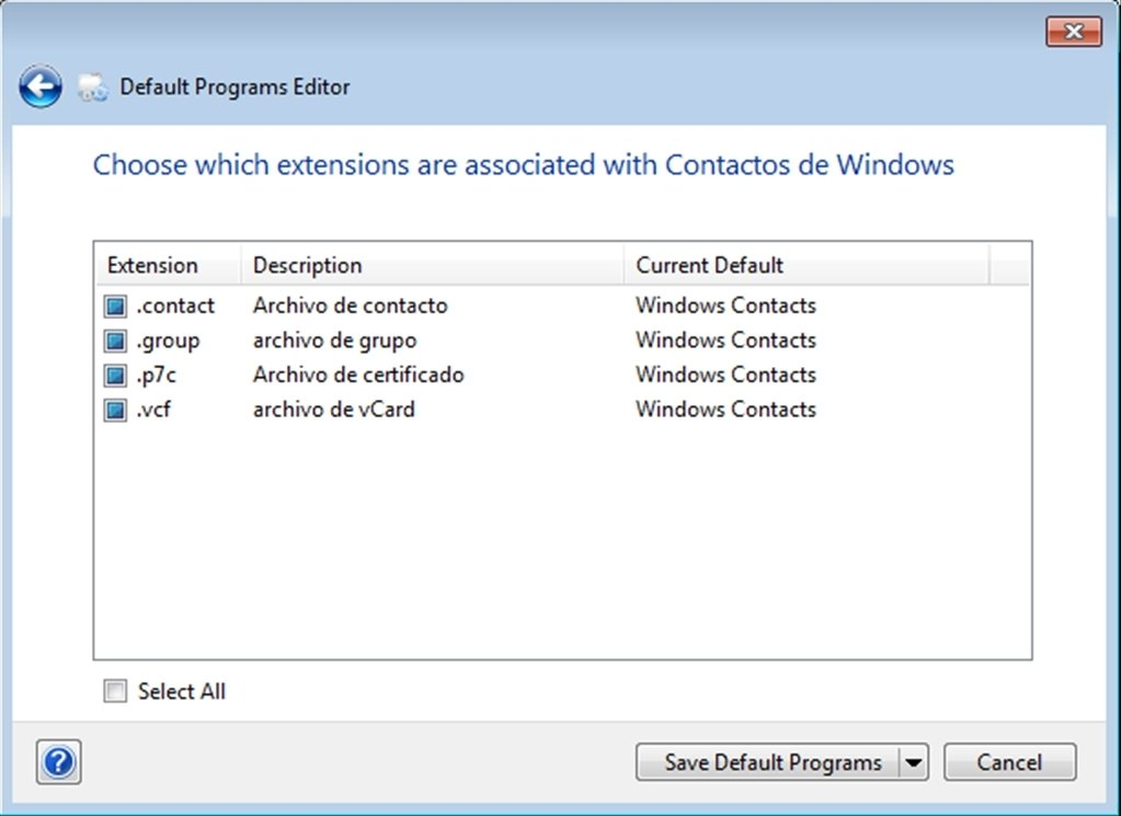 Default Programs Editor 2 7 2676 - Download for PC Free