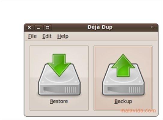 Déjà Dup Linux image 4
