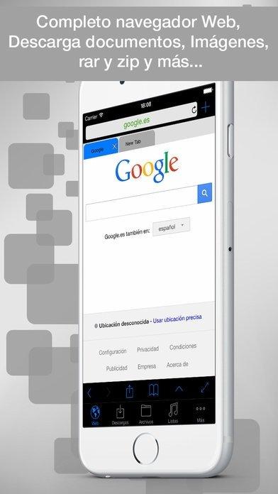 eDl Lite - Navigateur Web & gestionnaire fichiers iPhone image 4