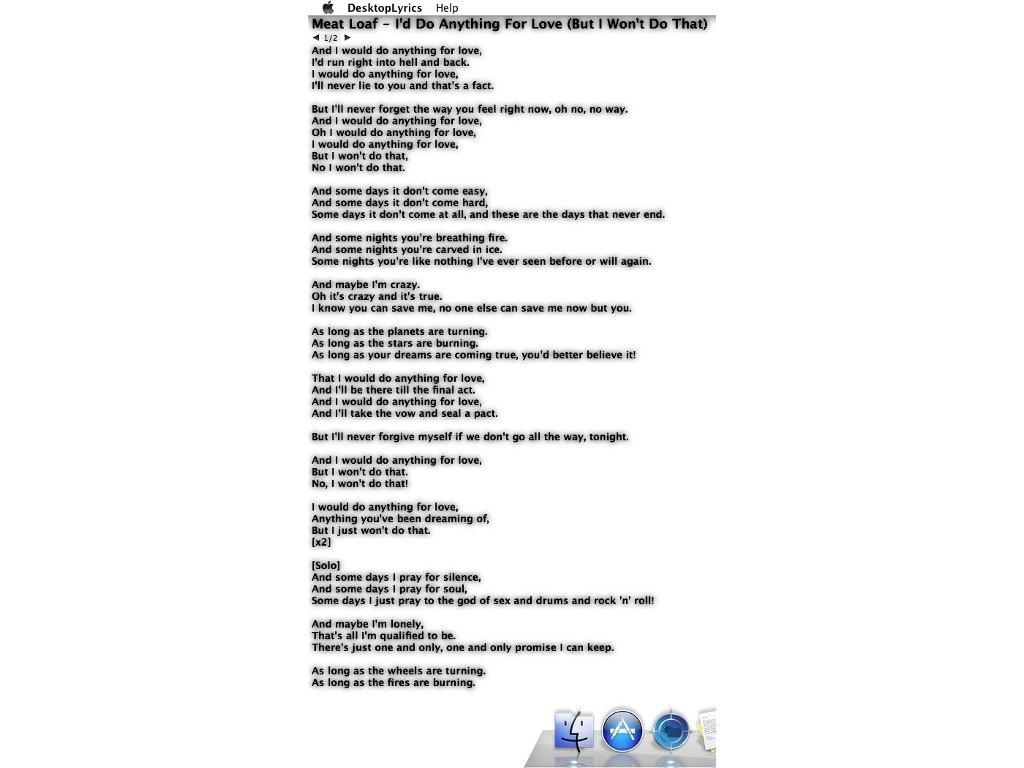 DesktopLyrics Mac image 2