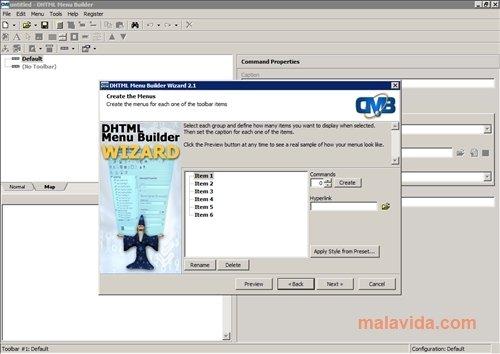 DHTML Menu Builder image 4