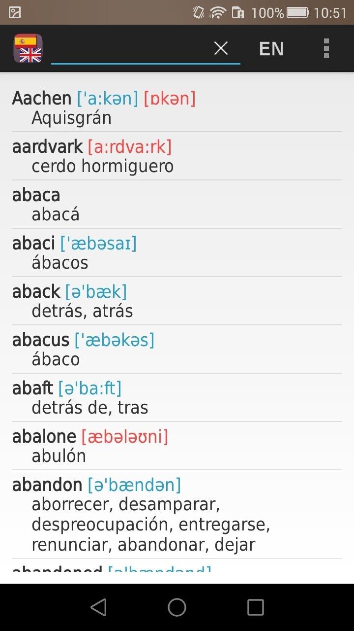 descargar diccionario ingles espanol gratis apk