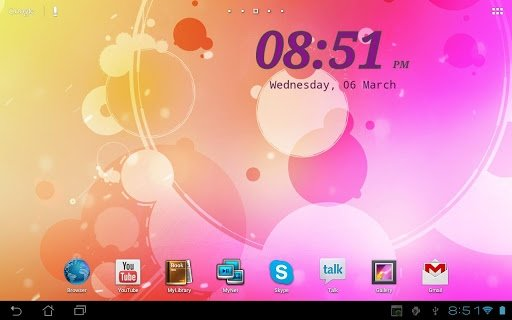 Digi Clock Widget Android