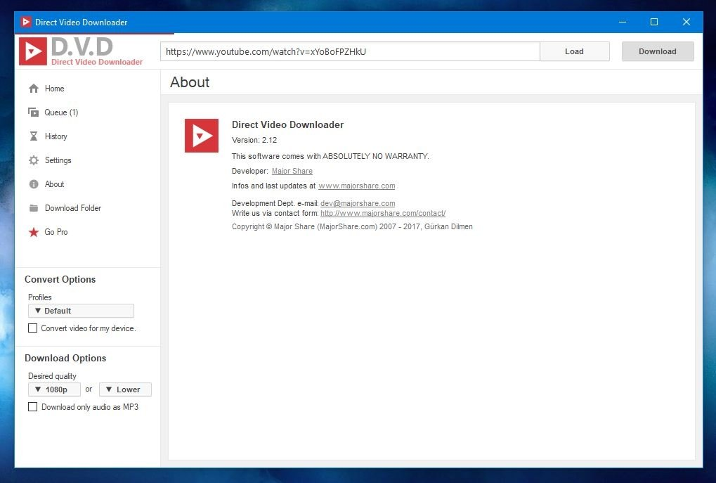 Direct Youtube Downloader 2 12 - Download for PC Free