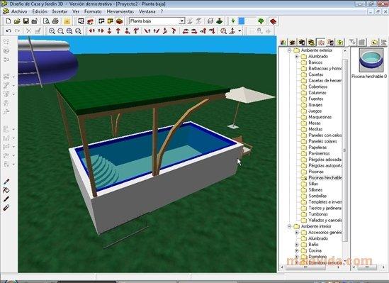 Descargar dise o de casa y jard n 3d 2 0 gratis en for Diseno jardines exteriores 3d gratis
