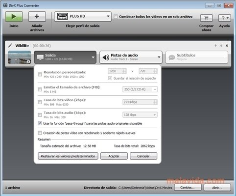 DivX Converter Plus 10.3