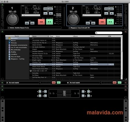 Attractive mixer with automatic BPM beat matching and more