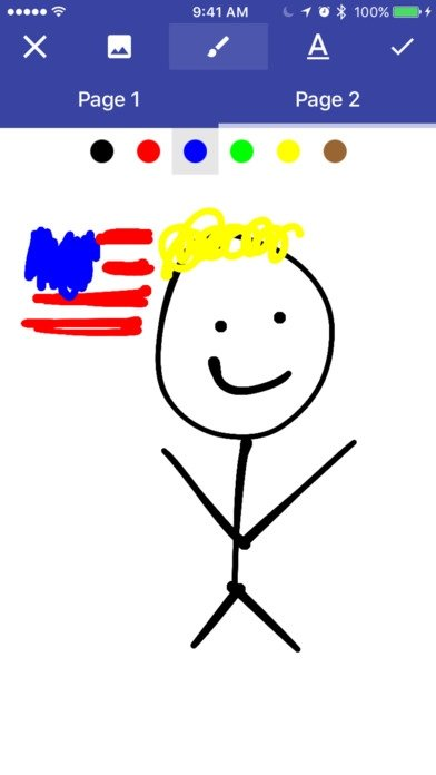 Donald Draws Executive Doodle iPhone image 3