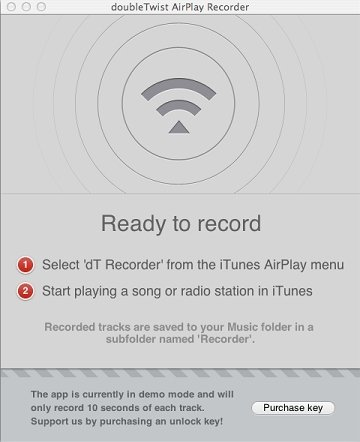 doubleTwist AirPlay Recorder Mac image 3
