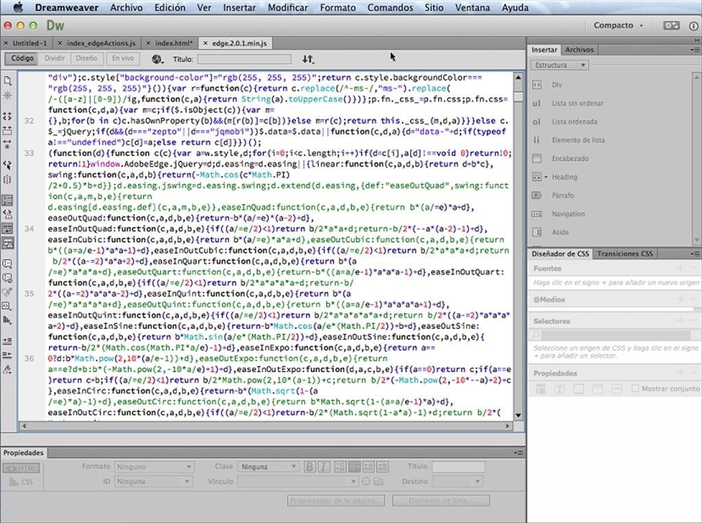 Dreamweaver Mac image 4