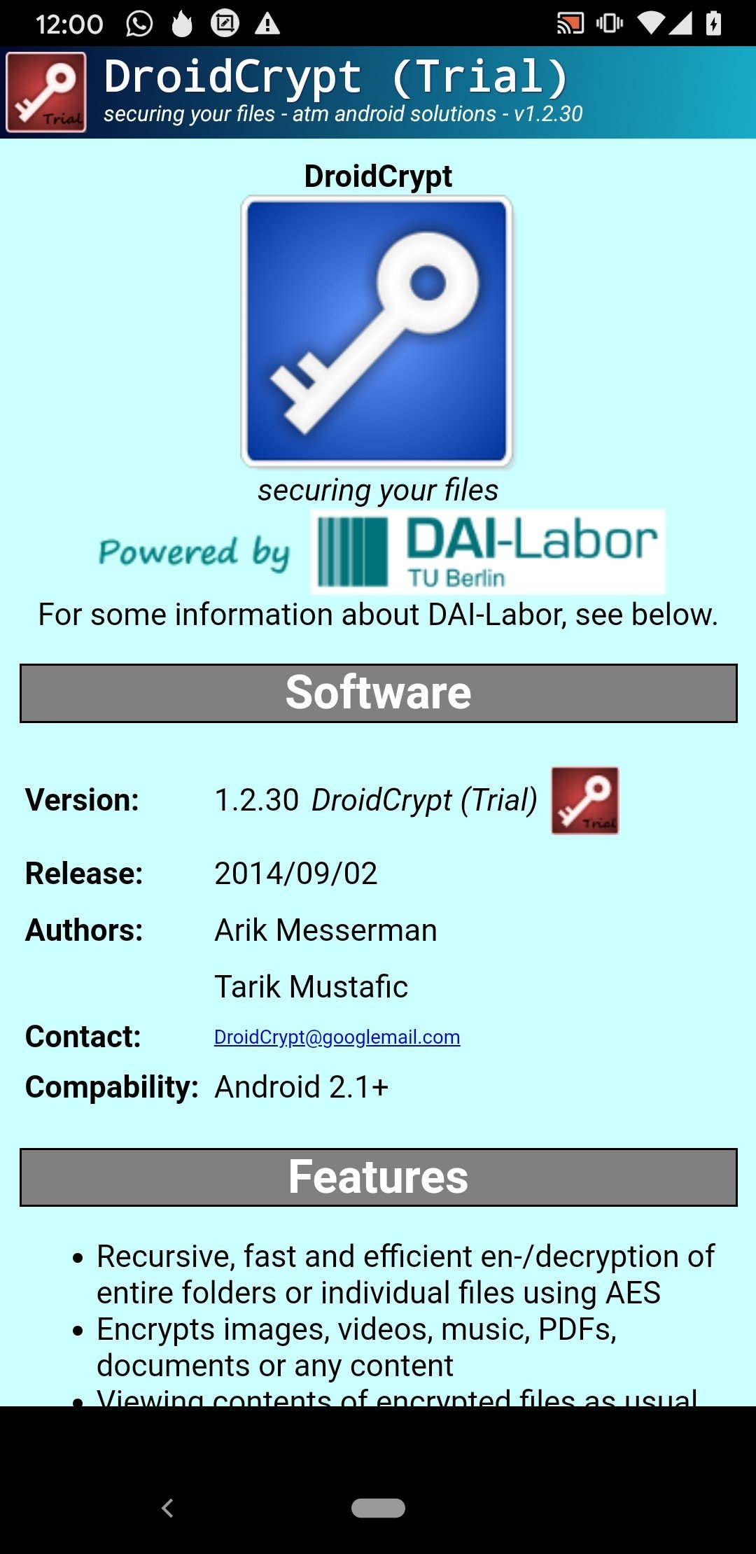 Droid Crypt Android image 5