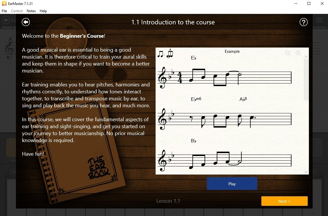 EarMaster 7 1 31 - Download for PC Free