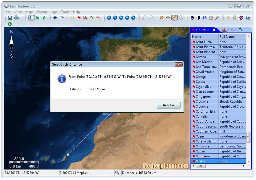 Earth Explorer 6.1 - Download for PC Free on