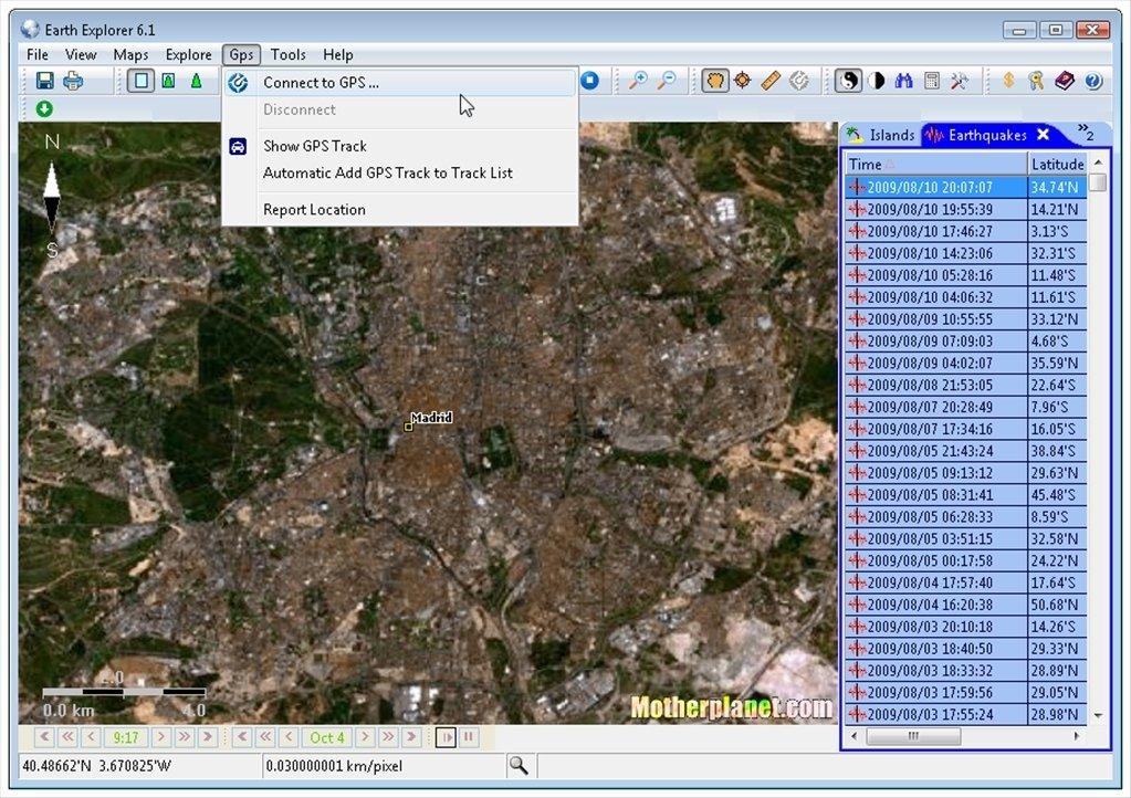 Echtzeit Satellitenbilder