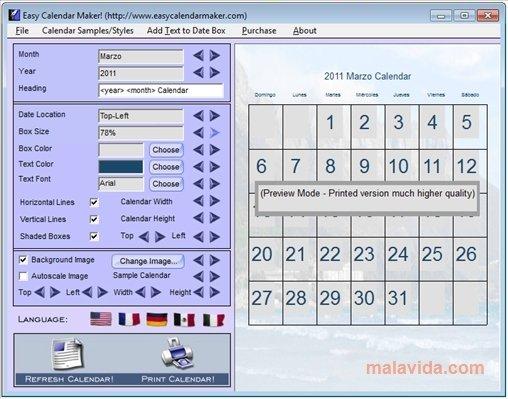 easy calendar maker pc用ダウンロード無料