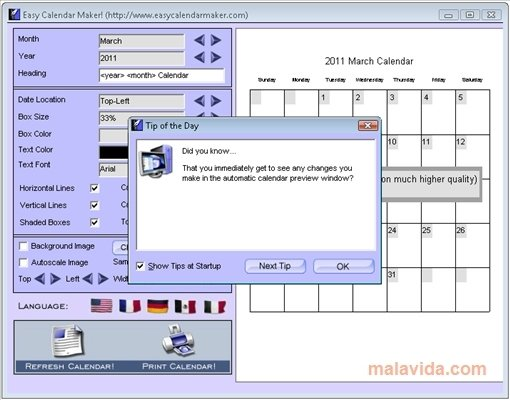 download easy calendar maker for pc free