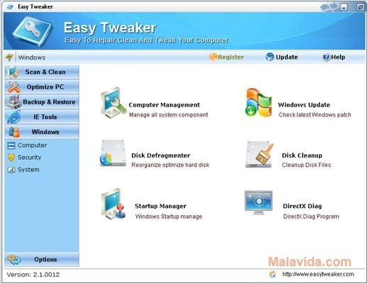 Easy Tweaker 2 1 5 - Download for PC Free