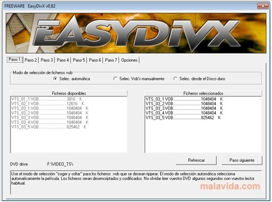 EasyDivX 0.8.2.0