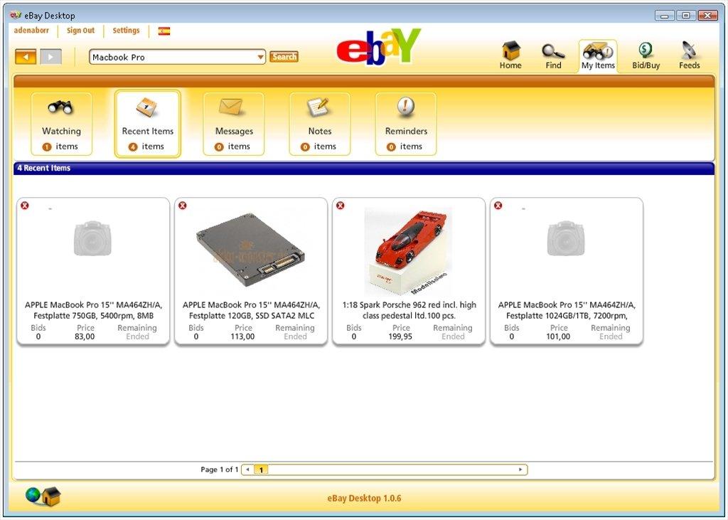 Ebay For Desktop