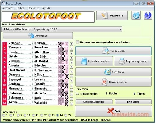 ecolotofoot shareware