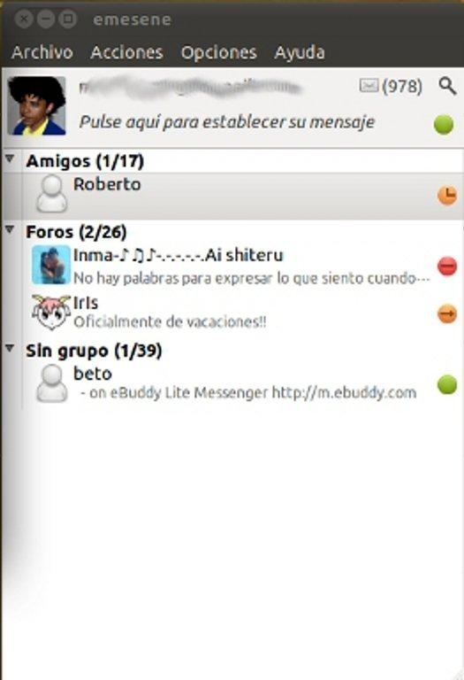 emesene Linux image 4