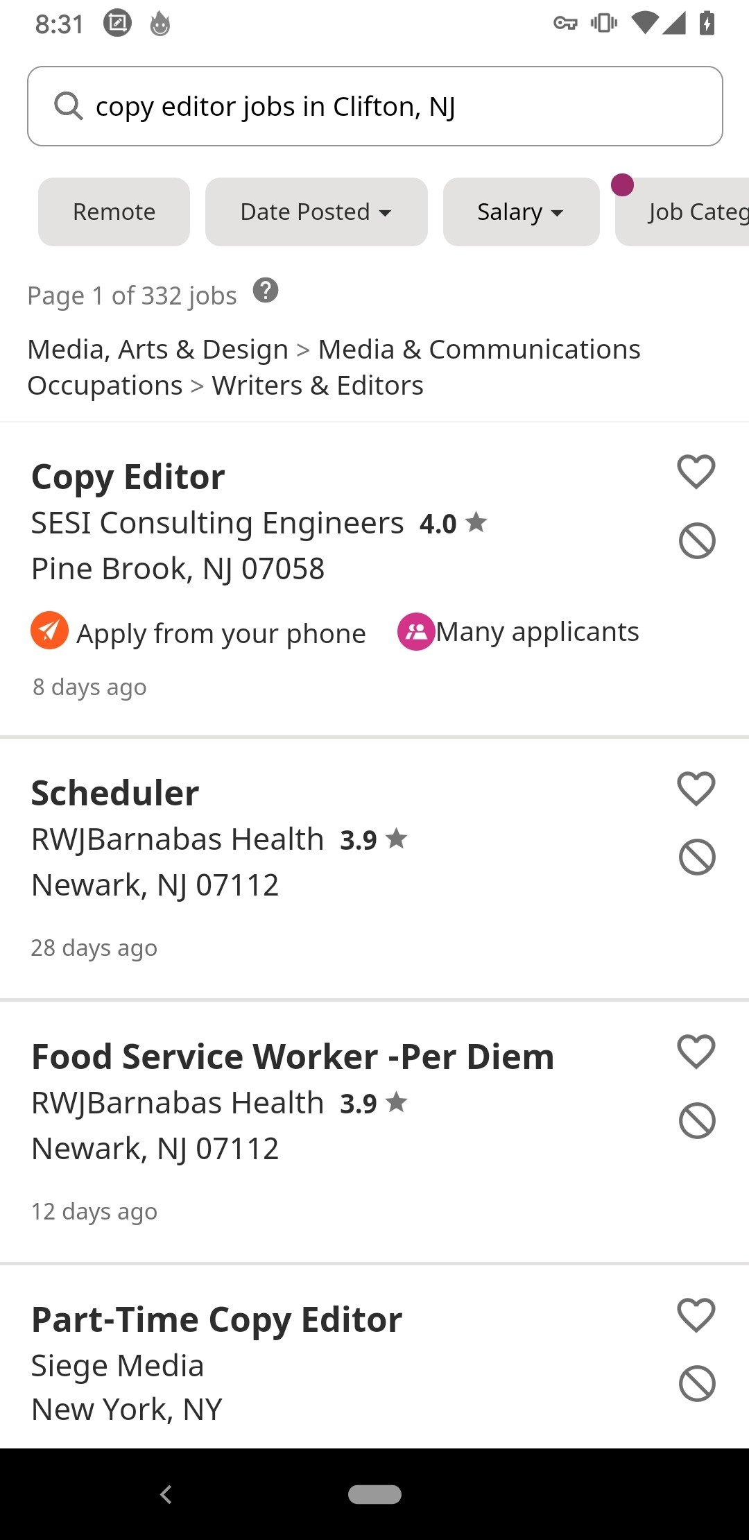 Indeed Job Search Android image 4
