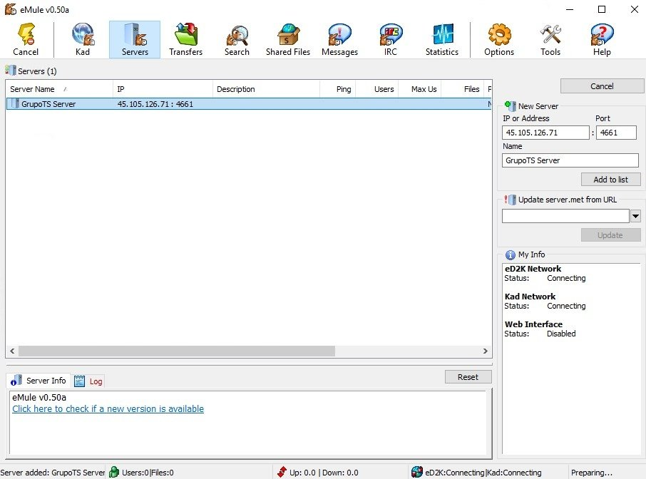 eMule Portable 0 50a - Download for PC Free