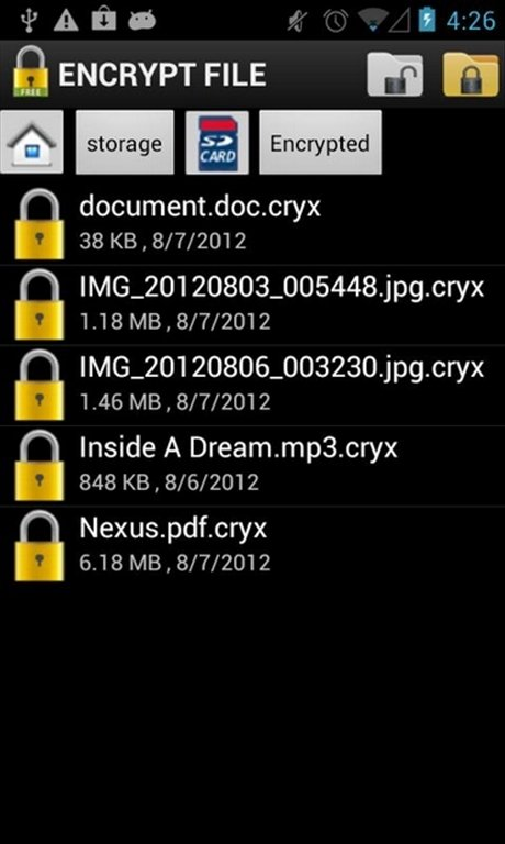 Encrypt File Android image 4