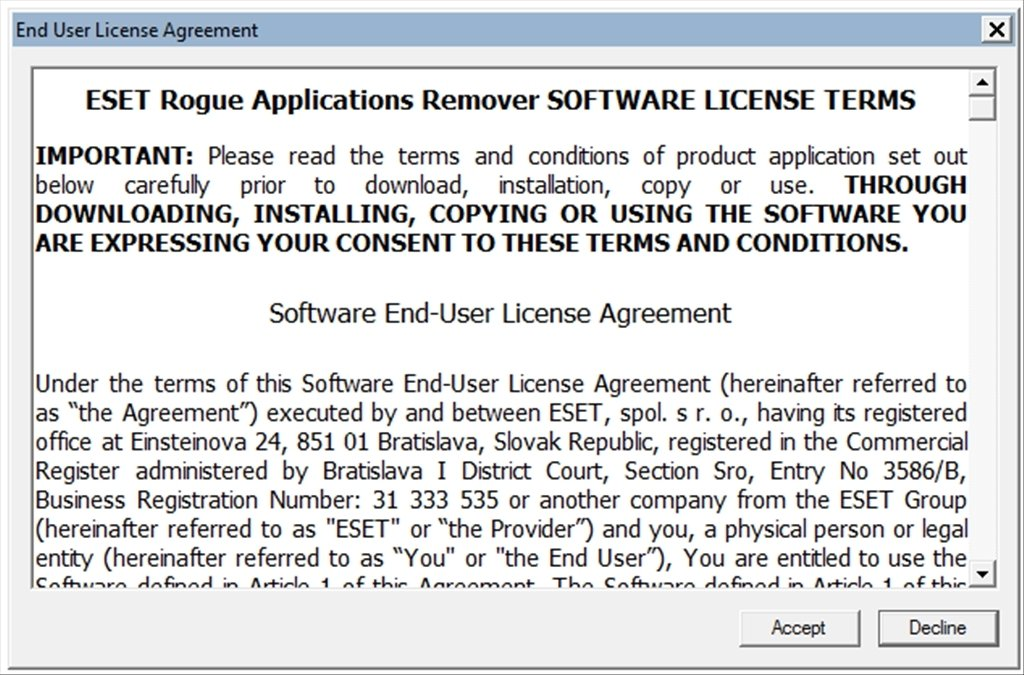 ESET Rogue Applications Remover image 7