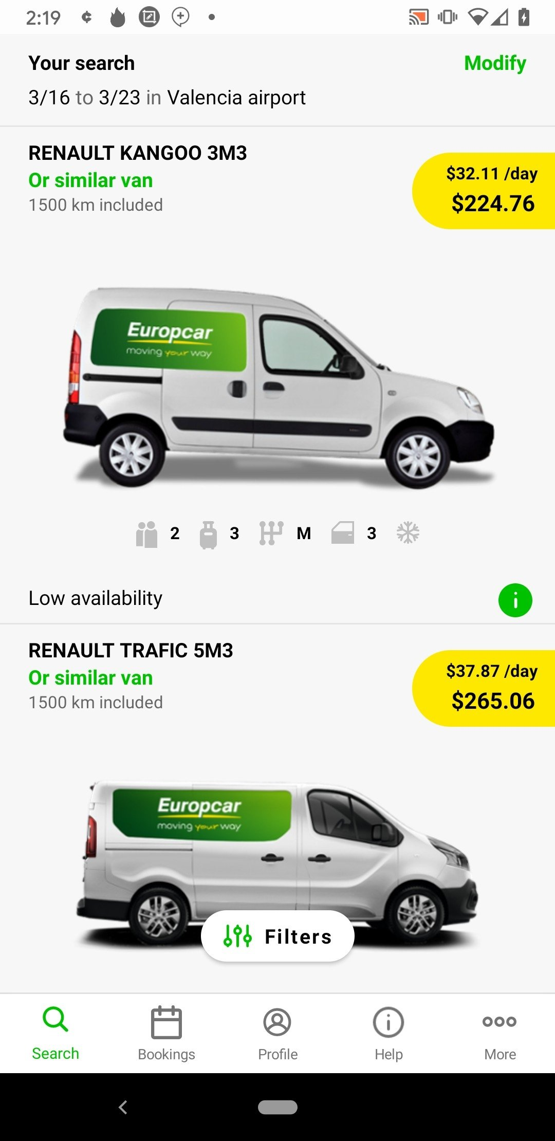 Europcar Android image 5