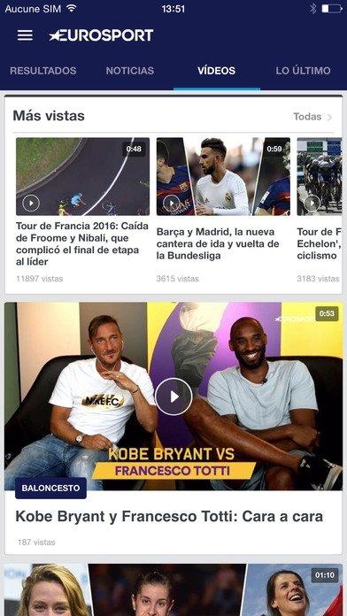 Eurosport iPhone image 5