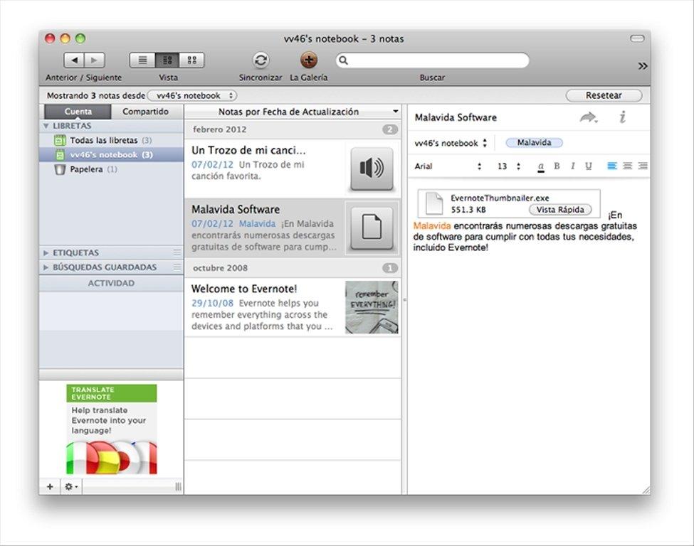Evernote Mac image 5