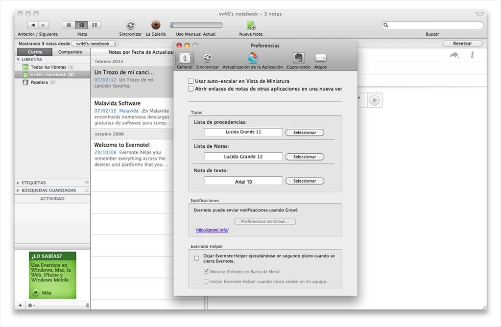 Evernote 7 5 2 - Download for Mac Free