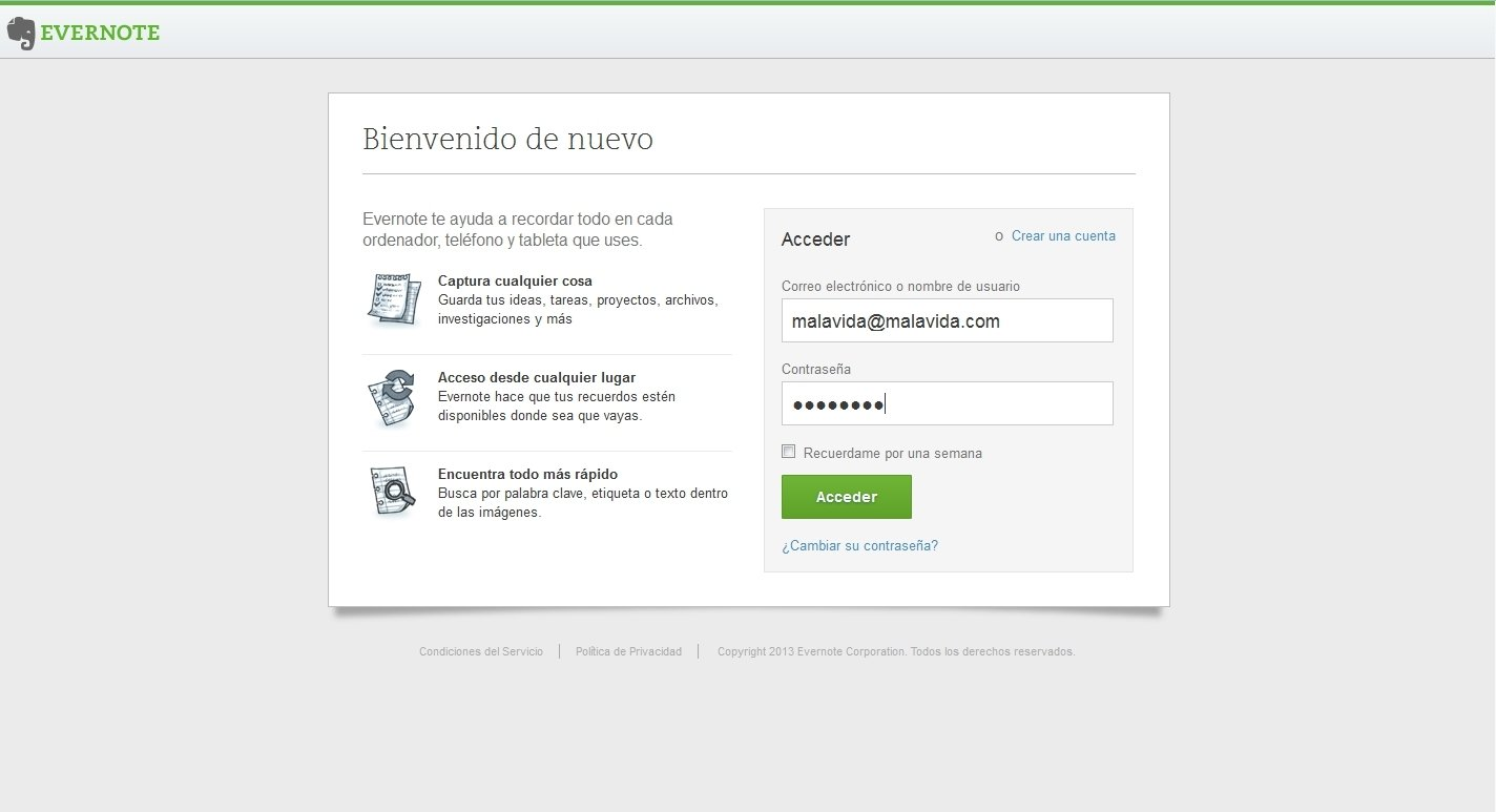 Evernote Webapps image 5