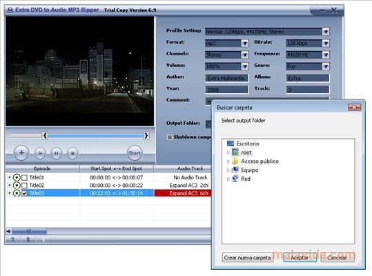 Extra DVD to Audio MP3 Ripper