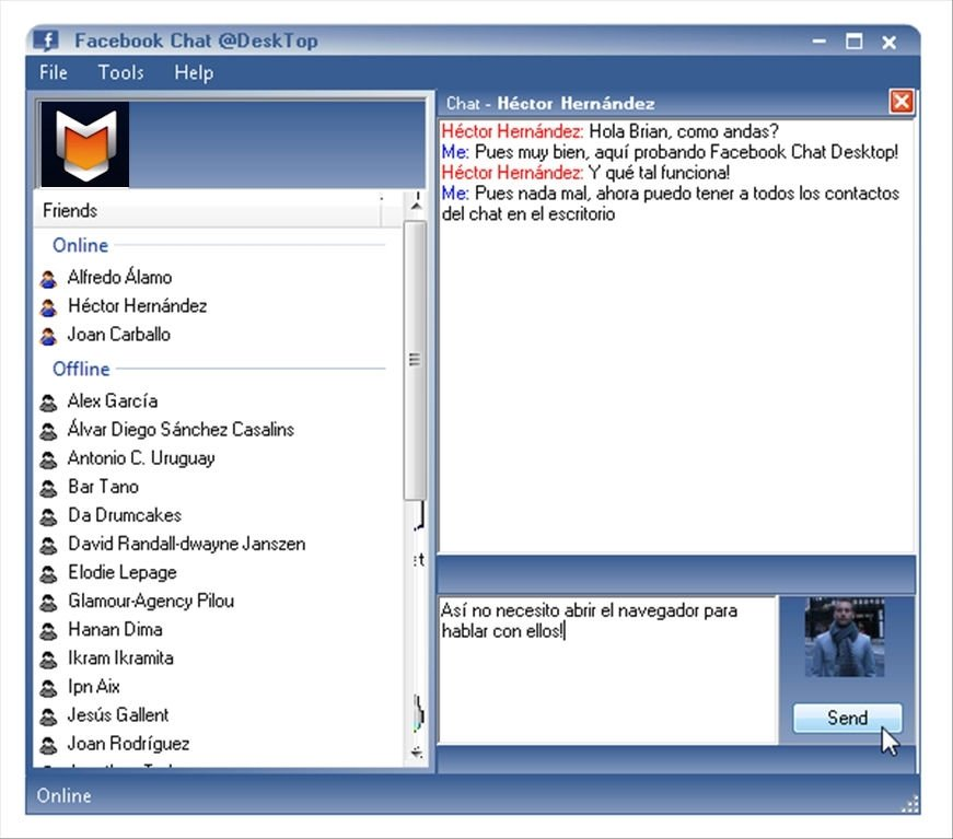 Facebook Chat Desktop image 2