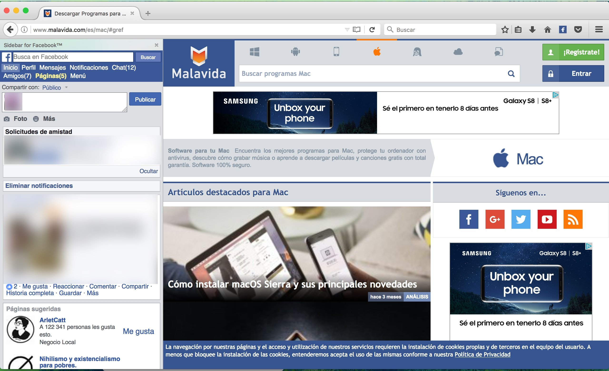 Facebook Toolbar Mac image 6