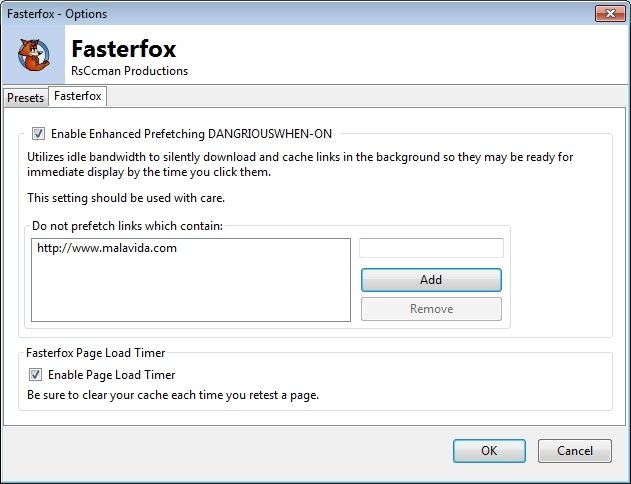 Speed up firefox by fasterfox.