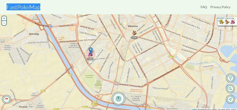 FastPokeMap Webapps image 4