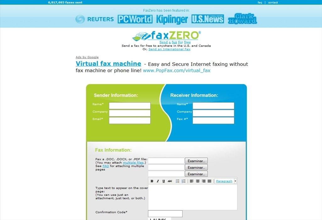 FaxZero Webapps image 2