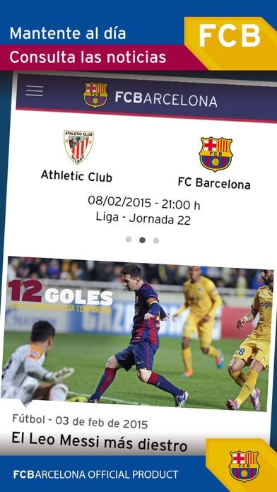 FC Barcelona Official App iPhone image 5