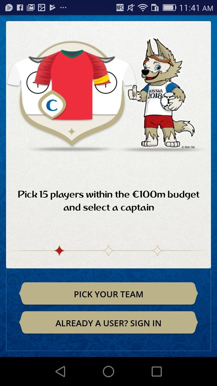 2018 fifa world cup russia fantasy 1 2 android用ダウンロードapk無料