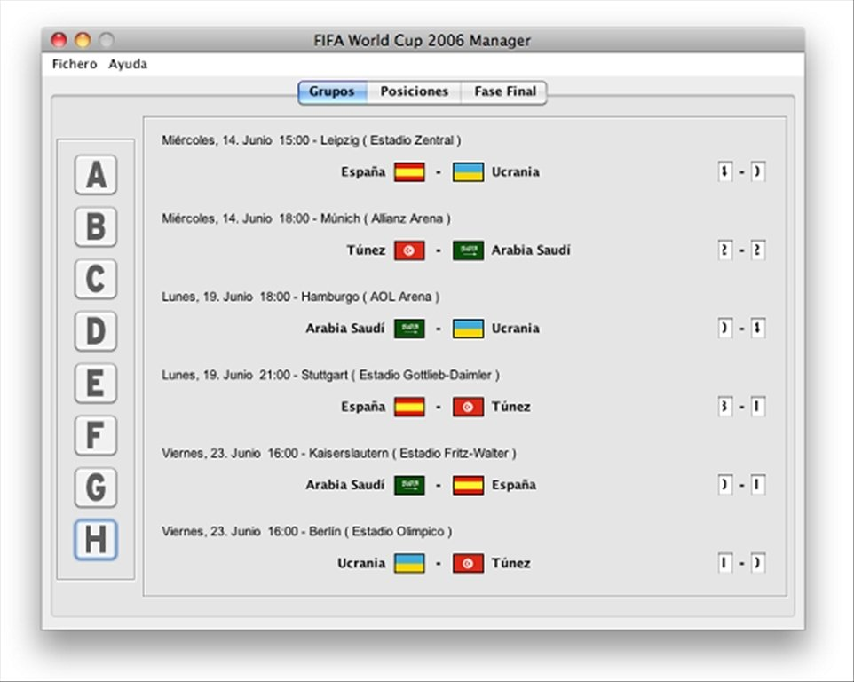 FIFA World Cup Manager Mac image 3