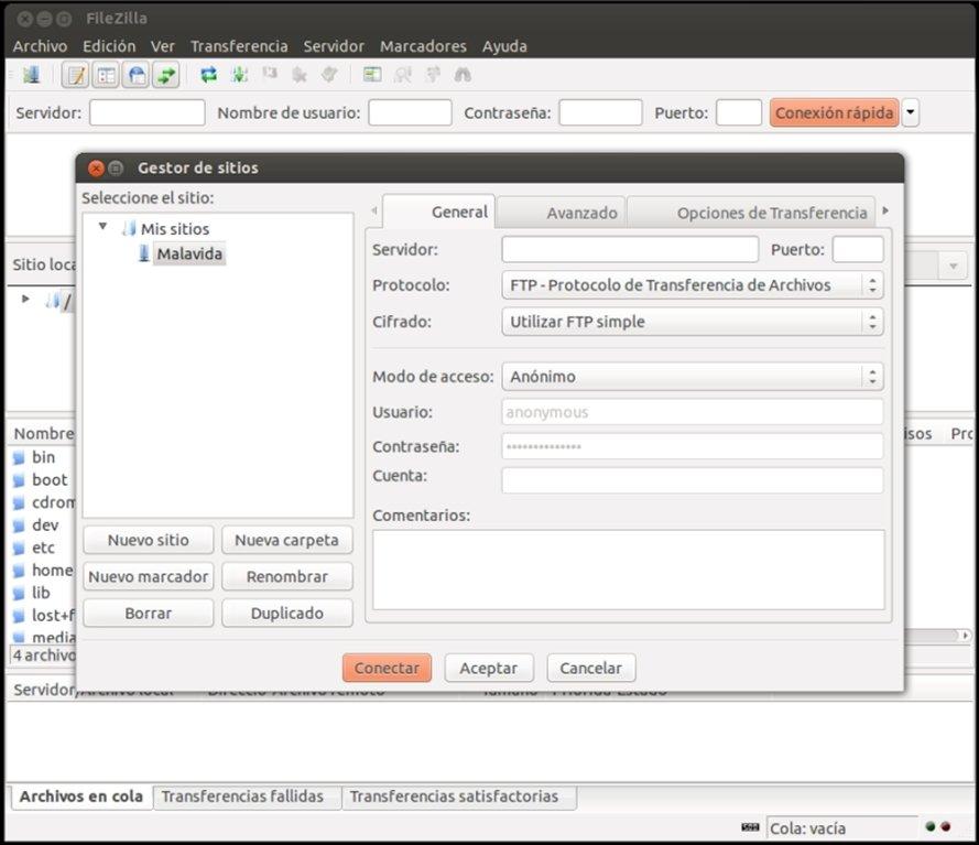 FileZilla Linux image 6