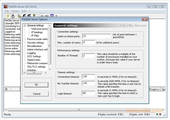 filezilla server italiano
