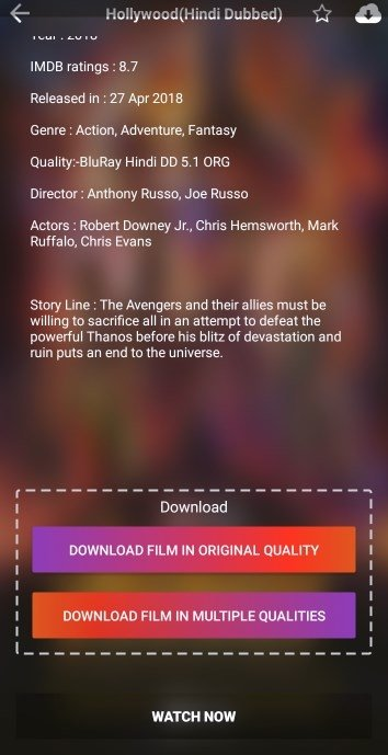 new movies download android app