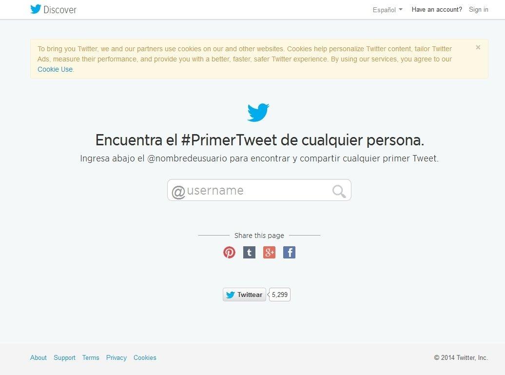 First Tweet Webapps image 2