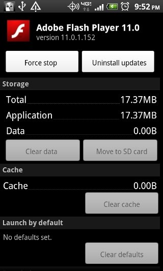 Adobe Flash Player Android image 2